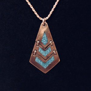 🆕STERLING SILVER Turquoise Inlay Necklace